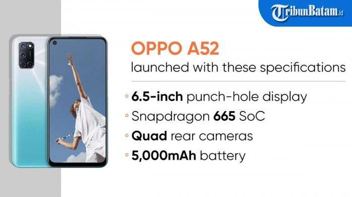 Spesifikasi Oppo A52 yang Sudah Hadir di Indonesia, Harga  Rp 3 Juta, Hanya Bisa Beli Online