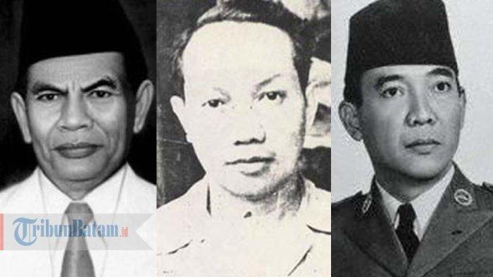M Yamin, Soepomo dan Soekarno merupakan sosok di balik lahirnya Pancasila