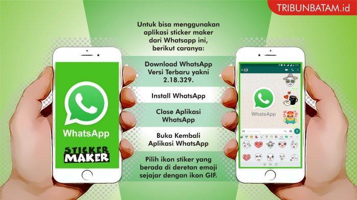 Video Begini Cara Pakai Stiker Whatsapp Tanpa Aplikasi Tambahan Mudah Kok Tribun Batam