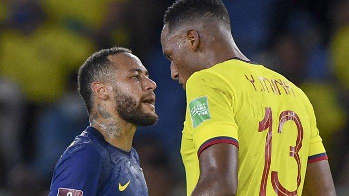 Hasil Kolombia vs Brazil, Neymar Main, Bersitegang dengan Yerry Mina, Brazil Imbang