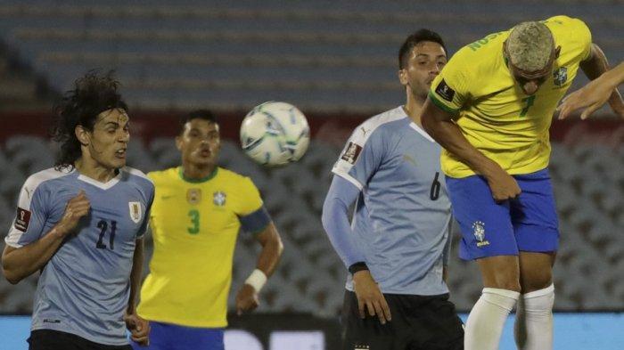 Hasil Uruguay vs Brazil, Striker Manchester United Kartu Merah, Brazil Pulang dengan Kemenangan 2-0