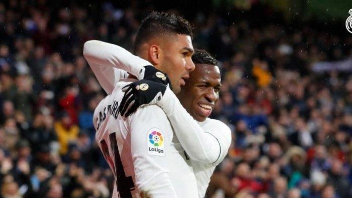 Babak Pertama Real Madrid vs Osasuna Liga Spanyol, Vinicius Bawa Los Galacticos Unggul 1-0