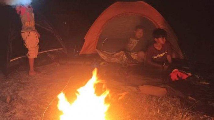 Suasana Saat camping ria anak-anak di Bintan Timur