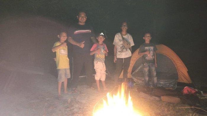 Terkendala Pandemi, Anak-anak di Bintan Pilih Kebun Jadi Tempat Kemping Ria dan Ngumpul Bareng