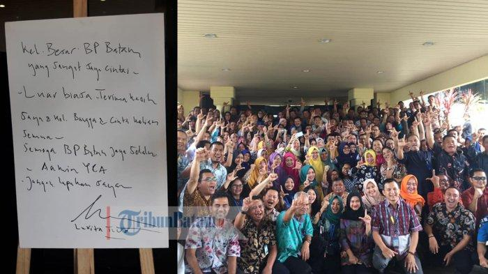 Dilepas Ratusan Pegawai BP Batam, Lukita Dinarsyah Tuwo Tulis Surat Perpisahan. Ini Isinya