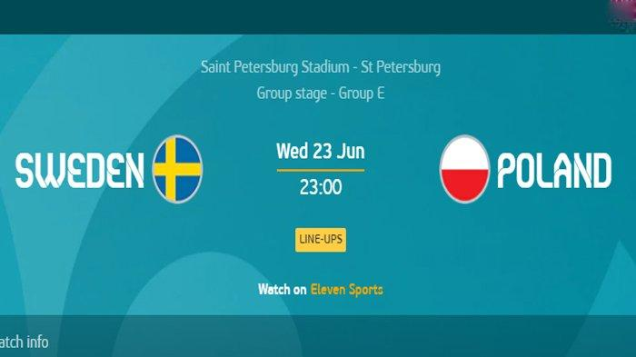 Siaran Langsung Swedia vs Polandia Euro 2020 Malam Ini, Kick Off 23.00 WIB via TV Online