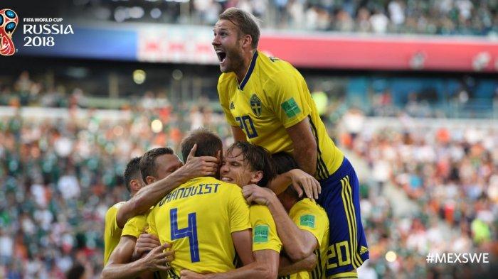 NGERI! Swedia Tambah Gol Jadi 3-0, Jermandan Meksiko Sama-sama Jantungan