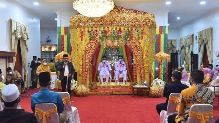 Tamu undangan penyambutan Bupati dan Wakil Bupati Karimun, Aunur Rafiq dan Anwar Hasyim.