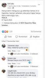Tangkapan Layar Facebook Lid Laia, terkait keluhan mahalnya biaya pengurusan SKCK di Polres Nias Selatan