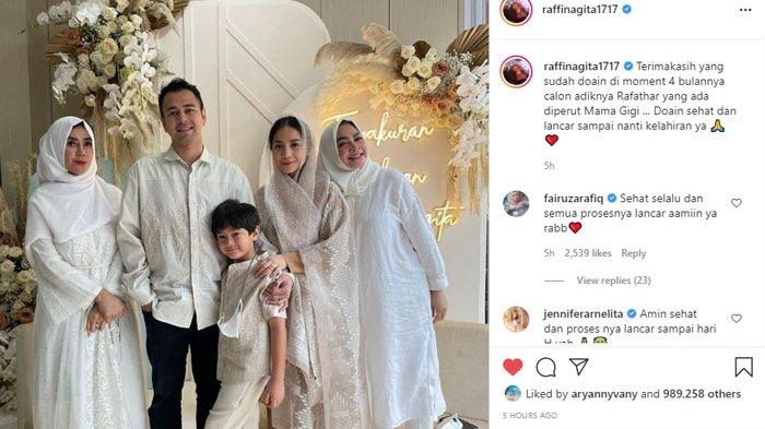 Penampilan Nagita Slavina saat Tasyakuran 4 Bulan Kehamilan, Istri Raffi Ahmad Ramai Didoakan