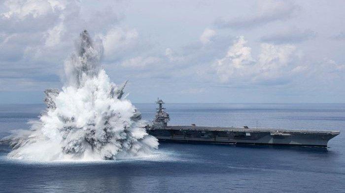 Pesan Mengerikan AS ke China dan Rusia, Pamer Kapal Perang Tahan Ledakan Bom 18 Ton