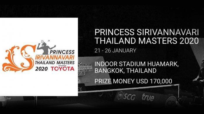 Link Live Streaming Thailand Master 2020, 8 Wakil Indonesia Main Hari Ini, Selasa (21/1/2020)
