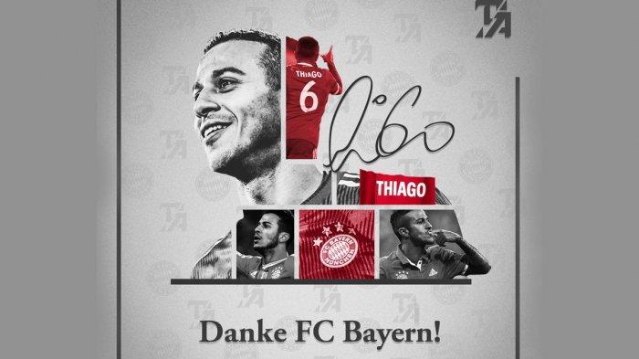 Transfer Liverpool - Thiago Alcantara Pamit ke Bayern Munchen: Ini Keputusan Tersulit Saya