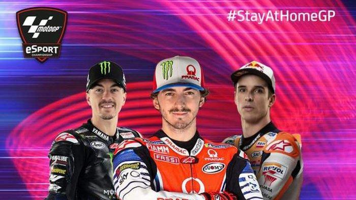 Hasil MotoGP Virtual GP Austria, Francesco Bagnaia Juara, Duo Marquez 3-4, Valentino Rossi No 7