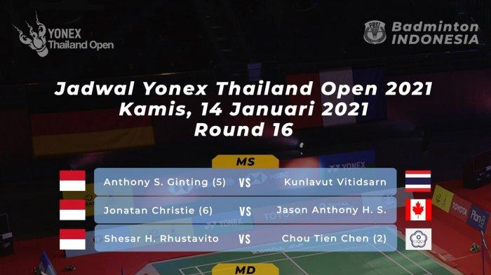 Sedang Berlangsung Siaran Langsung Thailand Open 2021, Jadwal 8 Wakil Indonesia Main Hari Ini