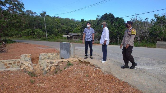 Belum Setahun Dibangun sudah Rusak, BP Bintan Minta CV Anak Tamiang Perbaiki Jalan Gorong-gorong