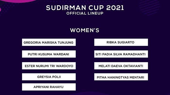Skuad Piala Sudirman 2021, Ada Putri KW di Tim Putri, Hendra Setiawan Calon Kapten?