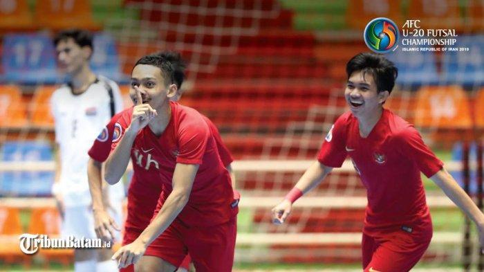 Jadwal Piala Asia Futsal 2019, Siang Ini Timnas Futsal Indonesia vs Vietnam, Live MNC TV 13.30 WIB