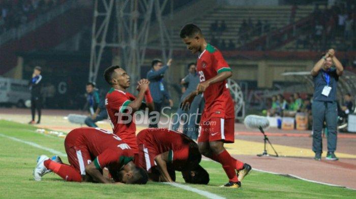 Timnas U-19 Indonesia vs Filipina. Dalam 8  Menit, Garuda Muda Cetak Empat Gol