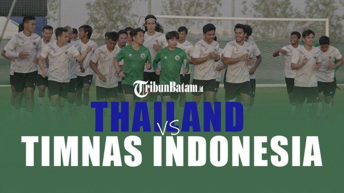Timnas Indonesia vs Thailand, Kick Off 23.45 WIB, Shin Tae-yong Optimis Menang