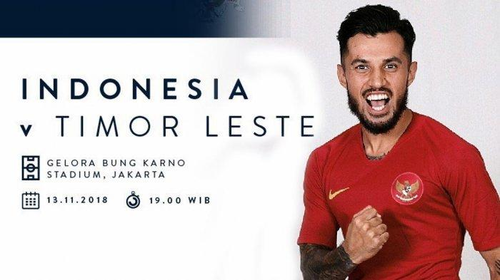 UPDATE Hasil Piala AFF 2018 Indonesia vs Timor Leste. Gol Stefano Lilipaly, Indonesia Unggul 2-1