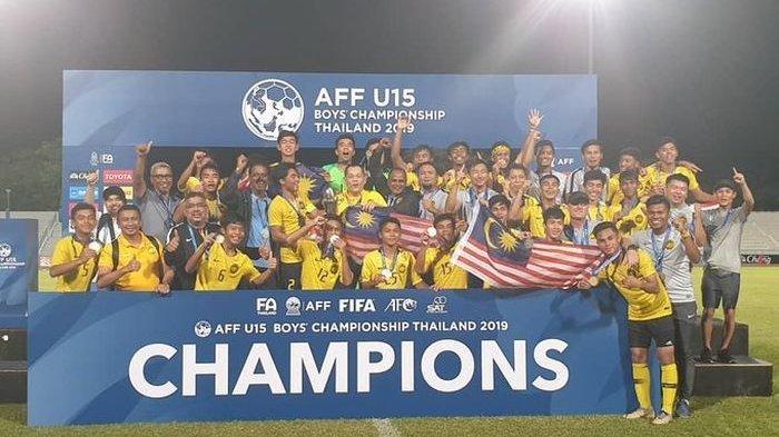 Timnas U15 Malaysia Juarai Piala AFF U-15 2019, Usai Tekuk Tuan Rumah Thailand 2-1