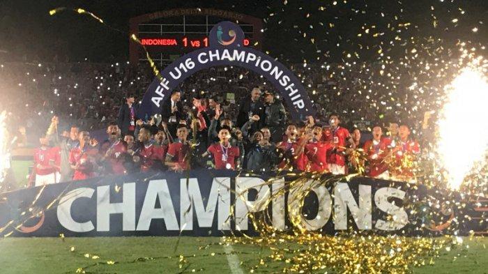 Timnas U16 Indonesia Juara Piala AFF U16 2018. Pelatih Persib: Saya Salut untuk Perjuangan Kalian