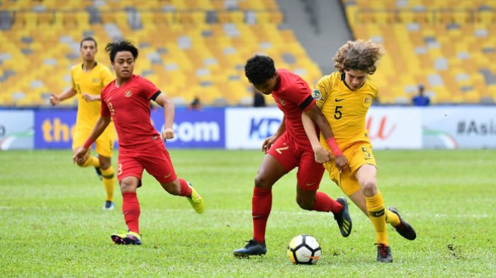 Timnas U16 Indonesia vs Australia. Ini Cuplikan Pertandingannya  di AFC U16, Skor 2-3