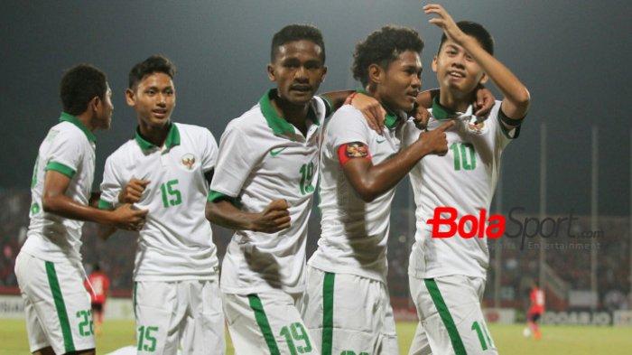 Hasil Piala AFF U16 2018 Indonesia vs Kamboja. Indonesia Menang Telak 4-0 atas Kamboja