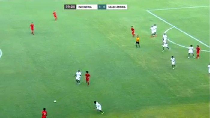 UPDATE Indonesia vs Arab Saudi. Timnas U19 Tertinggal, Gol Penalti Arab Saudi Ubah Skor Jadi 1-2