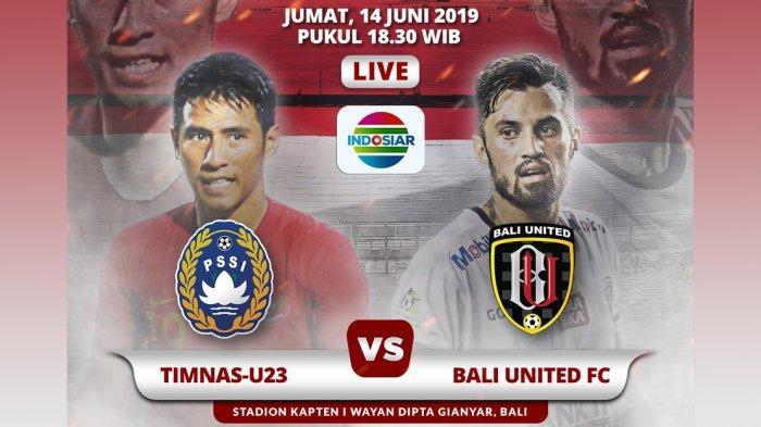 Timnas U23 vs Bali United Kick Off Jam 19.00 WIB Live Indosiar, Satria Tama Janji Tampil Bagus