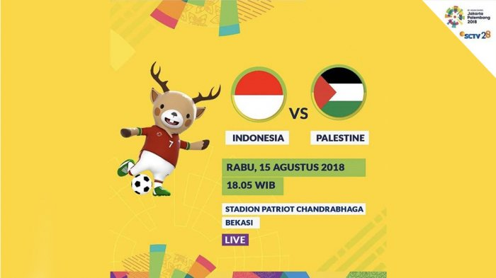 Jadwal & Link Live Streaming Timnas U23 Indonesia vs Palestina. Live di SCTV. Kick Off Jam 19.00 WIB