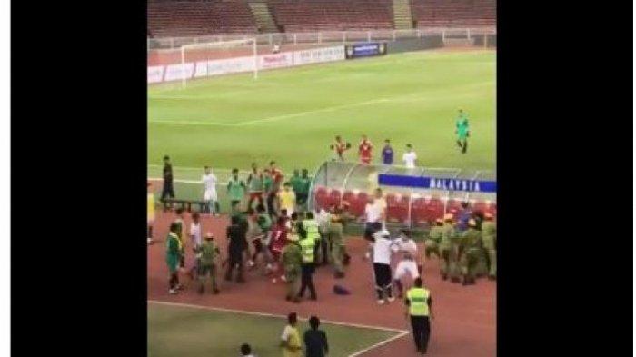 Beredar Video Timnas U-23 Malaysia vs UAE Ricuh di Lapangan. Para Pemain Baku Hantam