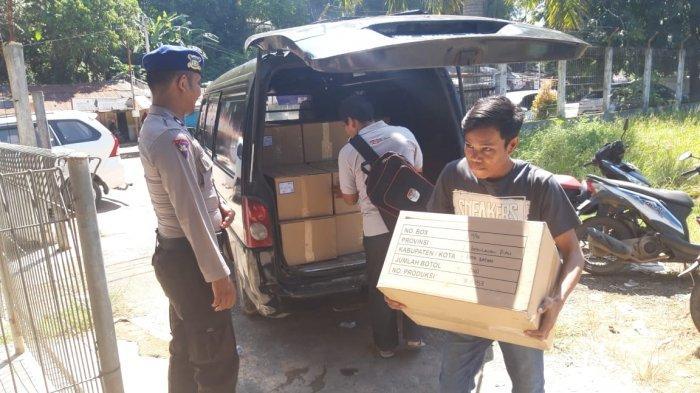 5.846 Botol Tinta Sidik Jari Pemilu Tiba di Batam