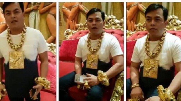 VIRAL, Pria Ini Kenakan Perhiasan Emas Seberat 13 Kg. Masih Terobsesi Bikin Topi dan Kaos dari Emas