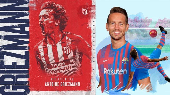 Transfer Klub Liga Spanyol 2021, Antoine Griezman Kembali ke Atletico Barcelona Rekrut Luuk de Jong