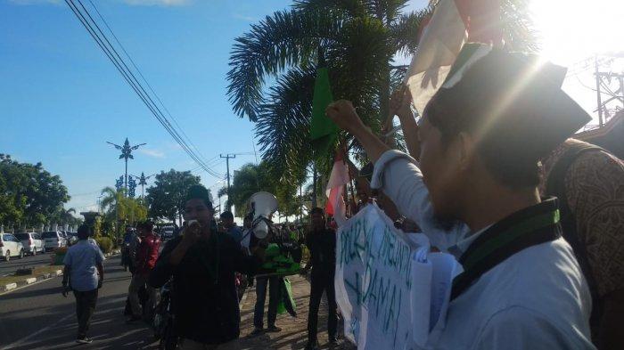 Mahasiwa Tanjungpinang Demo Kritisi Rusuh Aksi 22 Mei