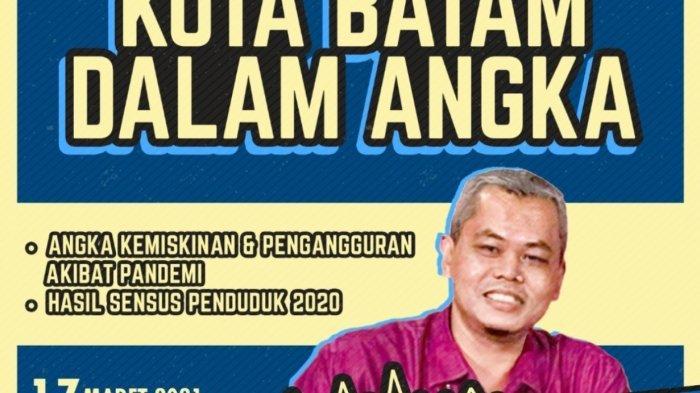 Melihat Batam Dalam Angka Bareng Kepala BPS Rahmad Iswanto. Foto Tribun Podcast bersama Kepala BPS Batam, Rahmad Iswanto, Rabu (17/3/2021).
