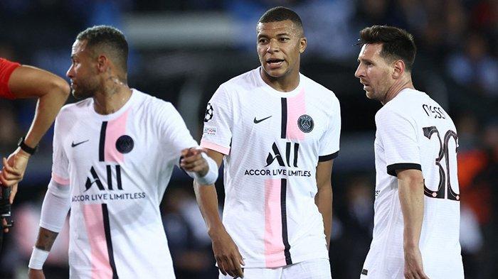 PSG Imbang vs Club Brugge, Trio MNM Belum Padu, Mbappe Hanya Sekali Umpan ke Messi