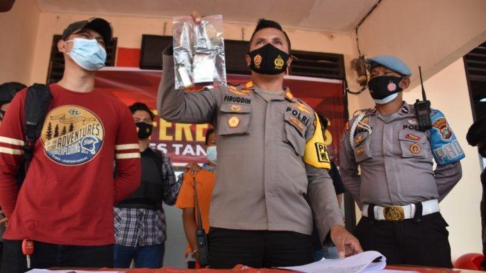Ekspos kasus Karhutla di Polsek Tanjungpinang Timur, Jumat (26/1/2021).