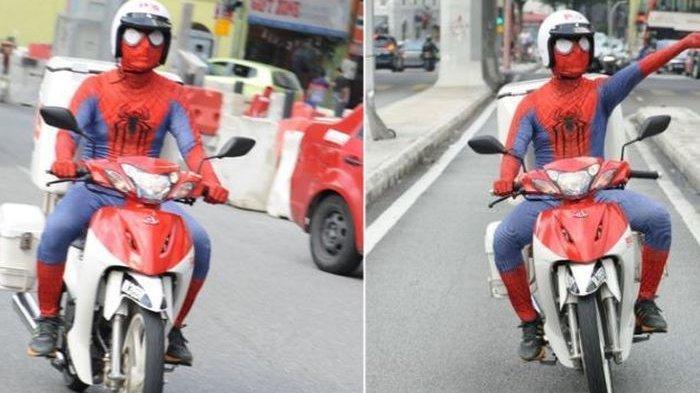 Viral Spiderman Jadi Tukang Pos, Keliling Kota Antar Surat
