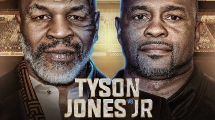 Poster promo duel Mike Tyson vs Roy Jones Jr