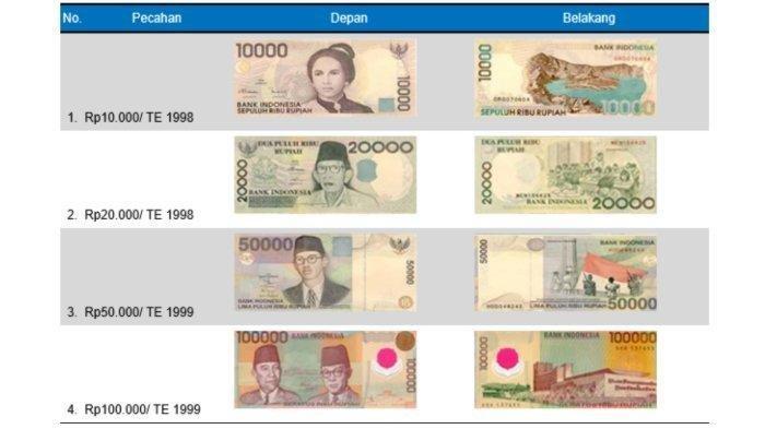 Begini Cara Tukar Uang Kertas Tahun Emisi 1998 dan 1999 Sebelum 30 Desember 2018