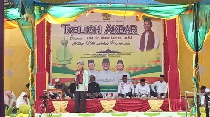 Tidak Hanya Warga Karimun, Warga Inhil Riau Datang ke Kecamatan Durai Lihat Ustaz Abdul Somad