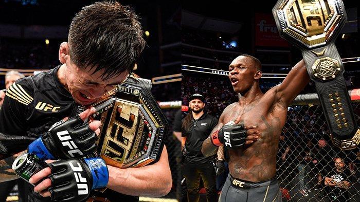 Hasil UFC 263, Brandon Moreno Kelahiran Meksiko Pertama Juara UFC, Israel Adesanya Pertahankan Gelar