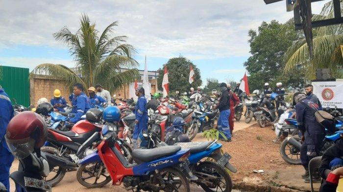BREAKING NEWS - Ratusan Karyawan PT Bandar Abadi Shipiyard Unjuk Rasa, Tuntut Hal Ini ke Perusahaan