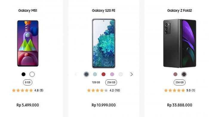 Update Harga HP Samsung Bulan Desember 2020, Galaxy M51 Rp 5,49 Juta,Galaxy M11 Rp1,84 Juta