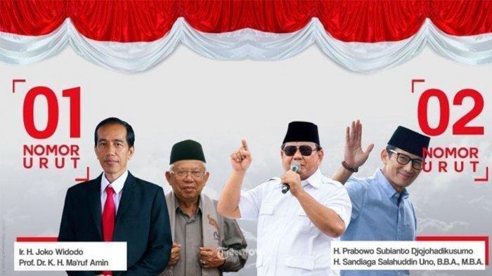 UPDATE Hasil Real Count KPU Pilpres 2019 Jokowi vs Prabowo Senin (13/5) Pagi, Data Masuk 78,47%