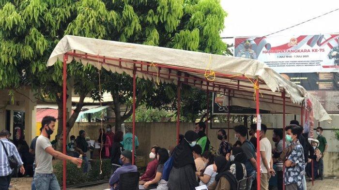 Vaksinasi Corona di Batam, 200 Dosis AstraZeneca di Polsek Bengkong Ludes