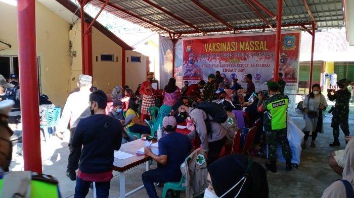 Jelang Hari Bhayangkara, Polres Anambas Beri Door Prize Warga yang Divaksin Corona